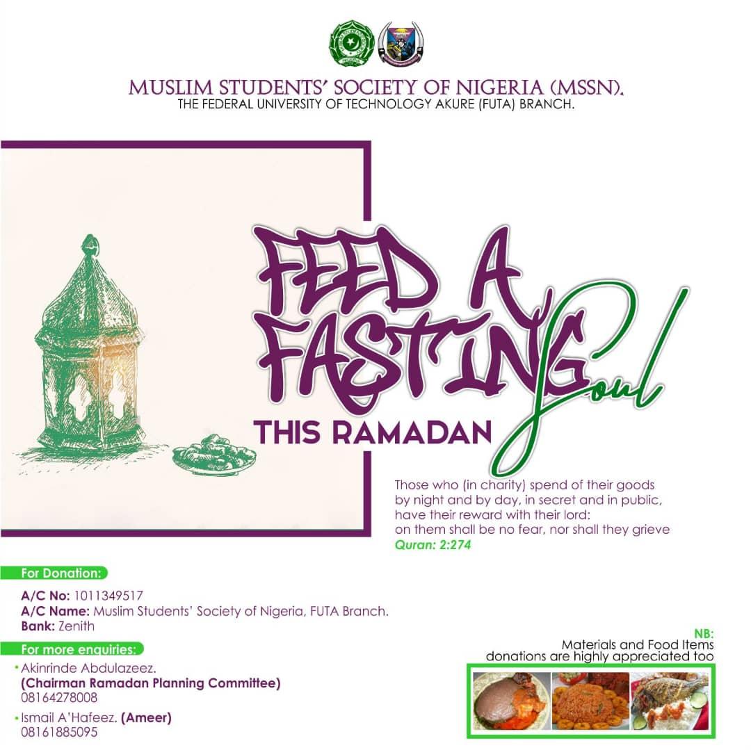 MSSN FUTA feed a fasting