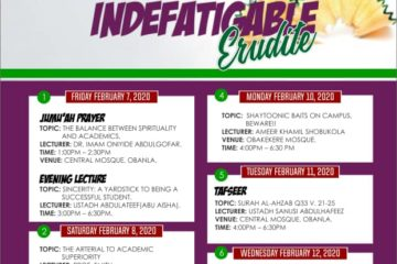 MSSN FUTA_ 2020 theme - The Indefatigable Erudite