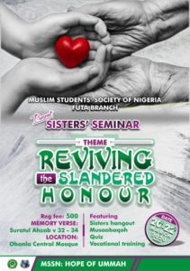 Reviving Slandered Honor - MSSN FUTA