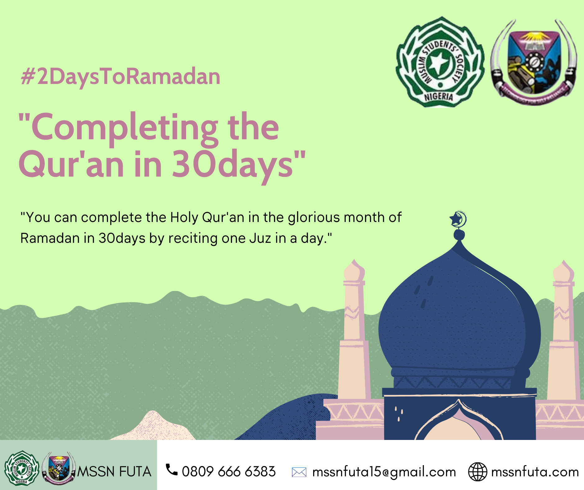 How to complete the Holy Qur'an in the glorious month of Ramadan in 30days