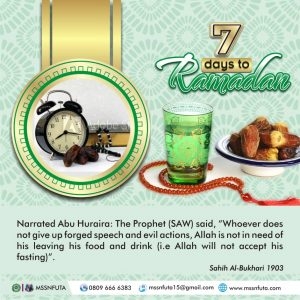 7days to Ramadan Countdown