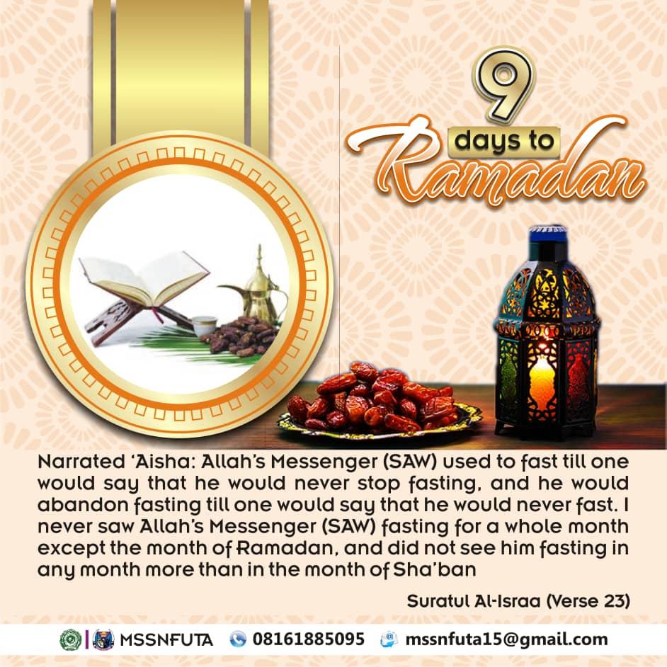 #9daystoRamadan: MSSN FUTA begin countdown