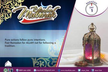 Ramadan Day 01