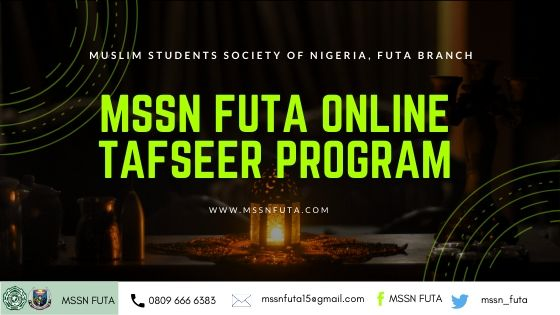MSSN FUTA Online Tafseer for Ramadan Program