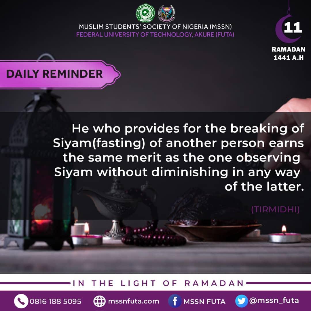 Ramadan Day 11 - mssnfuta.com