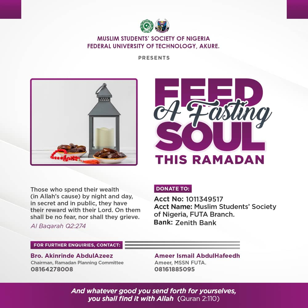 Feed a Fasting Soul - MSSN FUTA