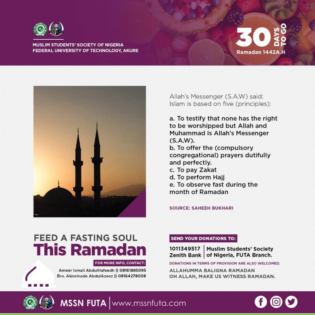 Ramadan 1442AH 2021 Countdown - MSSN FUTA