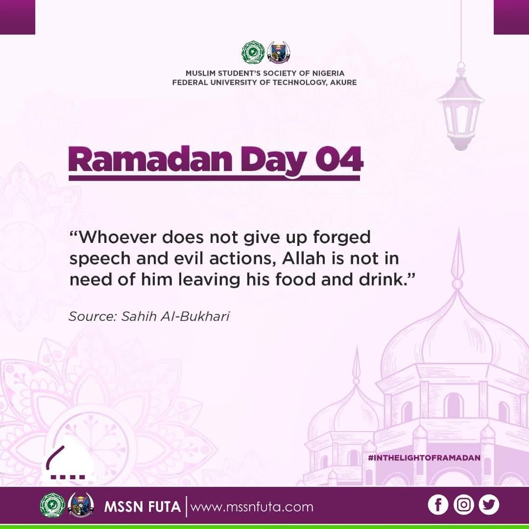 Ramadan Day 04 - MSSN FUTA