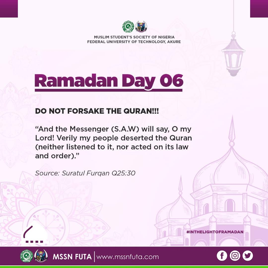 Ramadan Day 06 - MSSN FUTA