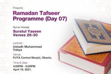 Ramadan Tafseer Day 07
