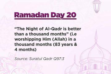 Ramadan Quotes Day 20