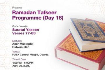 Ramadan Tafseer Day 18 MSSN FUTA