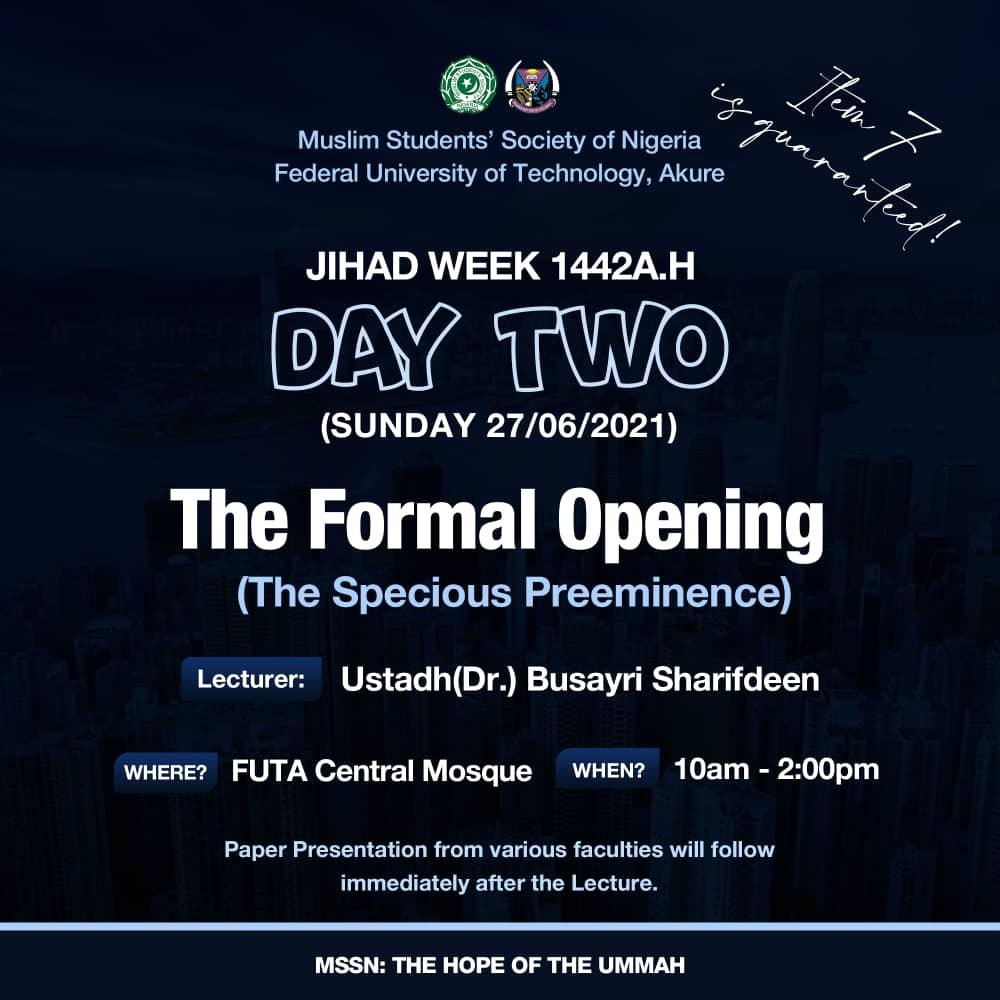 Formal opening