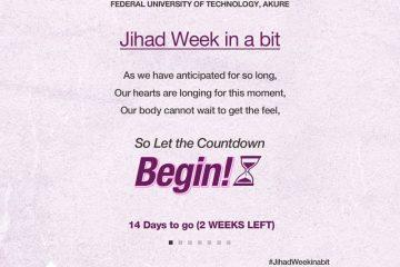 Jihad Week 2 weeks anticipation